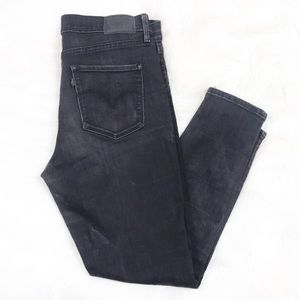 Levi 311 shaping skinny hi-rise ankle zip jeans 30